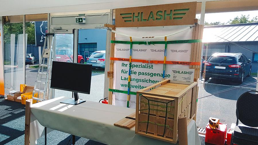 7. Gefahrgutsicherheitstage 2017 HLash Ladungssicherung im Container Infostand