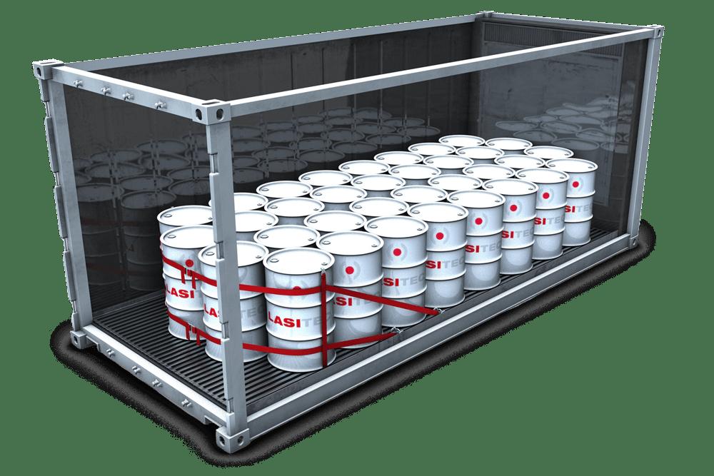Reefer Container Ladungssicherung Fässer